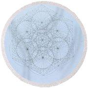 Quantum Snowflake Round Beach Towel
