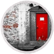 Red Door Perception Round Beach Towel