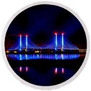 Reflecting Bridge - Indian River Inlet Bridge Round Beach Towel