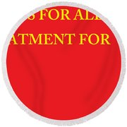 Rights Statement Round Beach Towel
