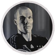 Robert Enke Round Beach Towel by Paul Meijering