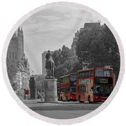 Routemaster London Buses Round Beach Towel