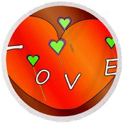 Simple  Love  Heart  - 505  Round Beach Towel