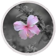 Round Beach Towel featuring the photograph  Soft Pink by Michelle Meenawong