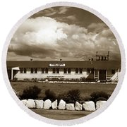 The Fort Ord Station Hospital Administration Building T-3010 Building Fort Ord Army Base Circa 1950 Round Beach Towel