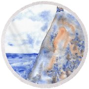 The House On The Hill 5 Round Beach Towel