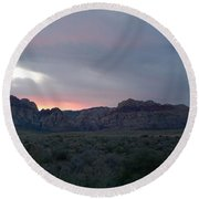 The Painted Desert Of Red Rock Canyon Nevada 1 Round Beach Towel