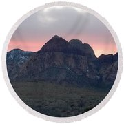 The Painted Desert Of Red Rock Canyon Nevada 2 Round Beach Towel