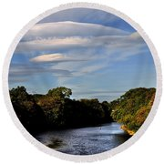 The River Beauly Round Beach Towel