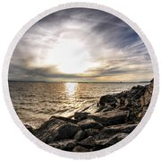 0011 Rest And Relax Series Round Beach Towel