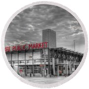 0038 Milwaukee Public Market Round Beach Towel
