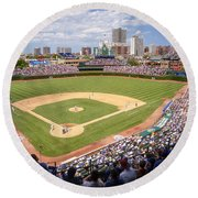 0100 Wrigley Field - Chicago Illinois Round Beach Towel