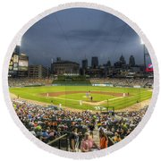 0101 Comerica Park - Detroit Michigan Round Beach Towel