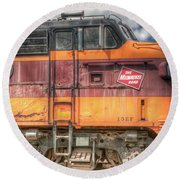 0119 The Milwaukee Road 2 Round Beach Towel
