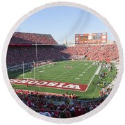 0251 Camp Randall Stadium - Madison Wisconsin Round Beach Towel
