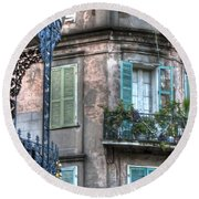 0254 French Quarter 10 - New Orleans Round Beach Towel by Steve Sturgill