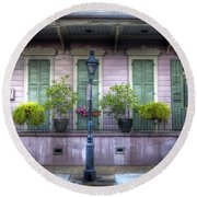 0267 French Quarter 5 - New Orleans Round Beach Towel