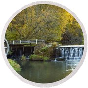 0291 Hyde's Mill Wisconsin Round Beach Towel