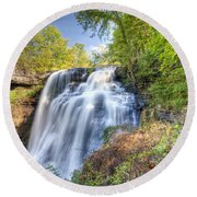 0302 Cuyahoga Valley National Park Brandywine Falls Round Beach Towel