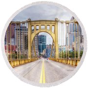 0305  Pittsburgh 10 Round Beach Towel