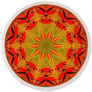 Brighten Your Day.unique And Energetic Art Round Beach Towel by Oksana Semenchenko
