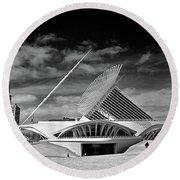 0352 Milwaukee Art Museum Infrared Round Beach Towel
