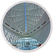 0354 Milwaukee Art Museum Round Beach Towel