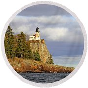 0376 Split Rock Lighthouse Round Beach Towel