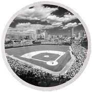 0416 Wrigley Field Chicago Round Beach Towel