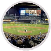 0434 Safeco Field Panoramic Round Beach Towel