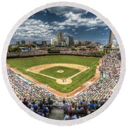 0443 Wrigley Field Chicago  Round Beach Towel