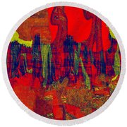 0486 Abstract Thought Round Beach Towel