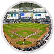 0546 Nlds Miller Park Milwaukee Round Beach Towel