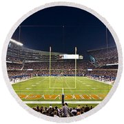 0587 Soldier Field Chicago Round Beach Towel