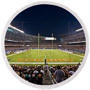 0588 Soldier Field Chicago Round Beach Towel