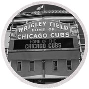 0600 Wrigley Field Round Beach Towel