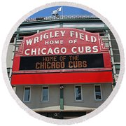 0601 Wrigley Field Round Beach Towel