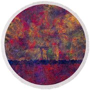 0799 Abstract Thought Round Beach Towel