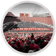 0811 Camp Randall Stadium Round Beach Towel