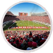 0814 Camp Randall Stadium Round Beach Towel
