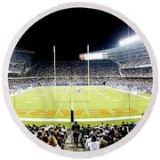 0856 Soldier Field Panoramic Round Beach Towel