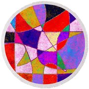 0269 Abstract Thought Round Beach Towel