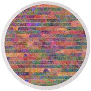 0310 Abstract Thought Round Beach Towel