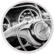 1941 Lincoln Continental Coupe Steering Wheel Emblem -0858c Round Beach Towel