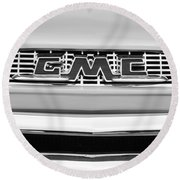 1956 Gmc 100 Deluxe Edition Pickup Truck Round Beach Towel