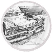 1957 Dodge Royal Lancer Study Round Beach Towel