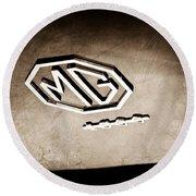 1959 Mg A 1600 Roadster Emblem Round Beach Towel