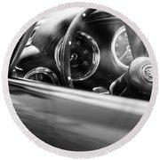 1960 Aston Martin Db4 Series II Steering Wheel Round Beach Towel
