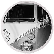 1964 Volkswagen Vw Samba 21 Window Bus Round Beach Towel
