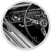 1965 Shelby Prototype Ford Mustang Steering Wheel Round Beach Towel